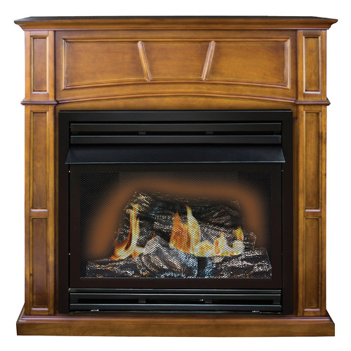 KozyWorld Savannah Full Size Wall Mounted Dual Fuel Fireplace