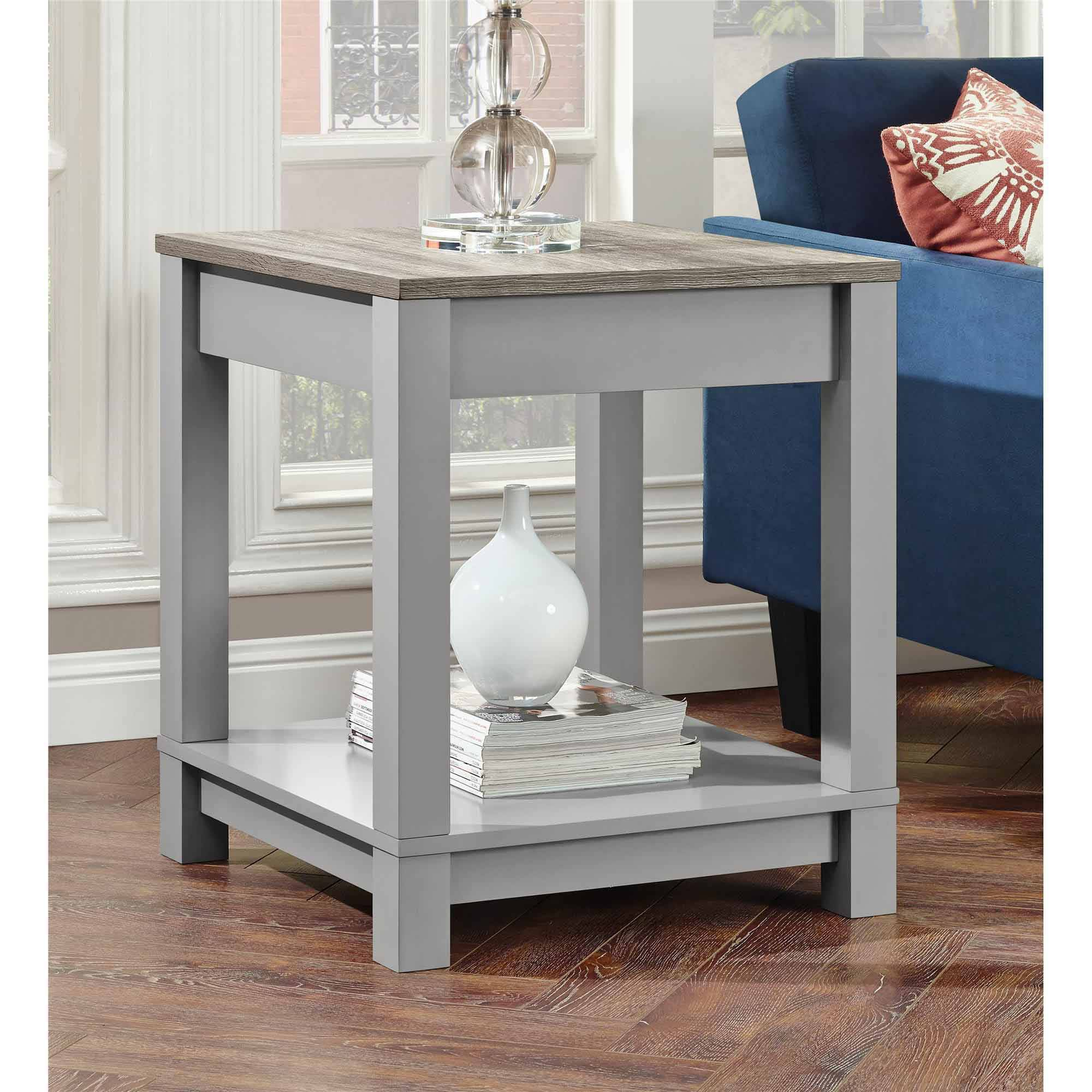 Better Homes and Gardens Langley Bay End Table, Gray Sonoma Oak by Altra