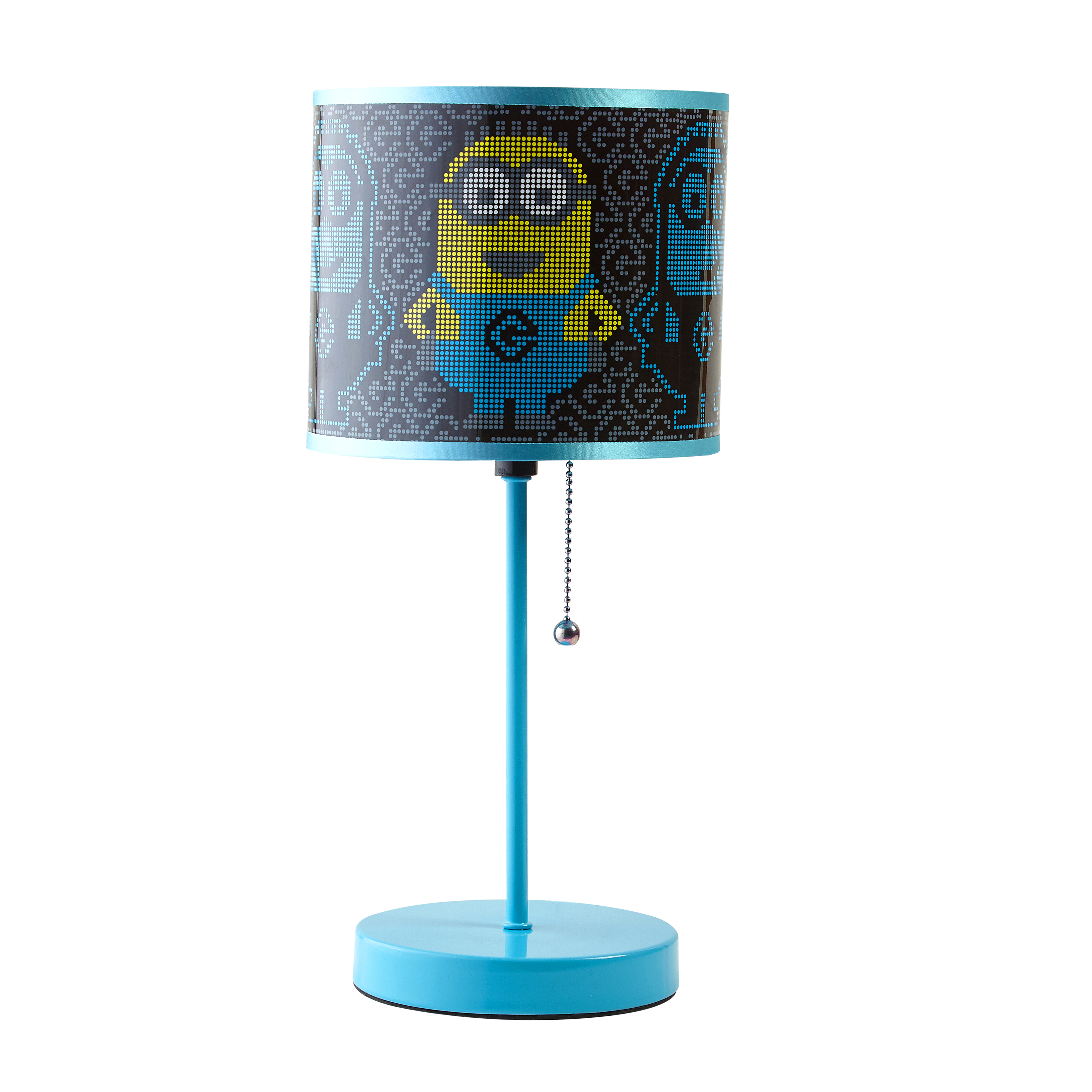 "Minions Stick Lamp with Drum Shape Shade, Blue- 15"" H by Idea Nuova"