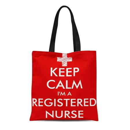 ASHLEIGH Canvas Tote Bag Nursing Keep Calm I M Registered Nurse Humor Funny Reusable Handbag Shoulder Grocery Shopping - Nurse Purse