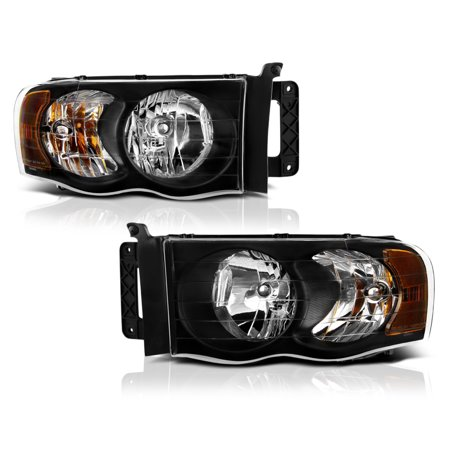 VIPMOTOZ OE-Style Headlight Headlamp Assembly For 2002-2005 Dodge RAM 1500 2500 3500 Pickup Truck, Driver & Passenger Side