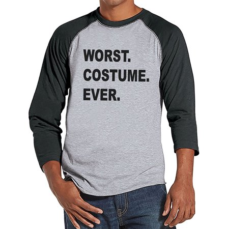 Custom Party Shop Men's Worst Costume Ever Halloween Raglan Shirt - Large