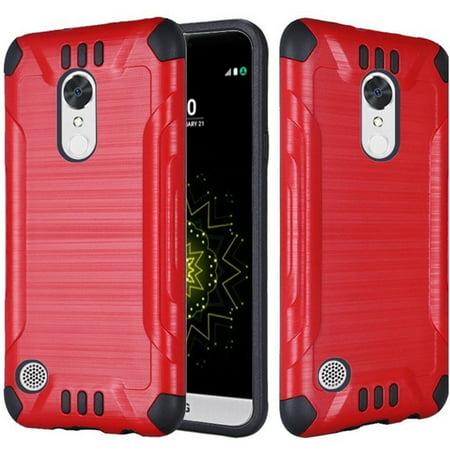 LG K20 Plus case, LG K20 V case, LG V5 case, by Insten Slim Armor Brushed Metal Design Hybrid Dual Layer [Shock Absorbing] Case For LG K20 Plus / K20 V / V5