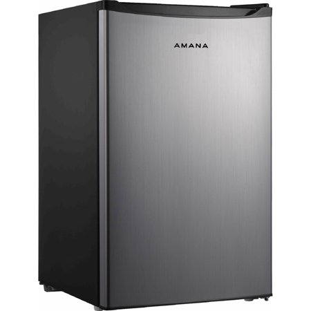 Amana 4.3-Cu.-Ft. Single Door Refrigerator, Stainless Steel