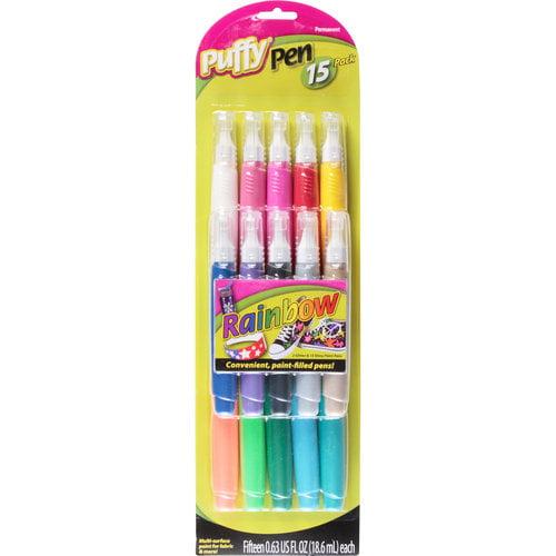 Puffy Dimensional Fabric Paint Pen, 15pk