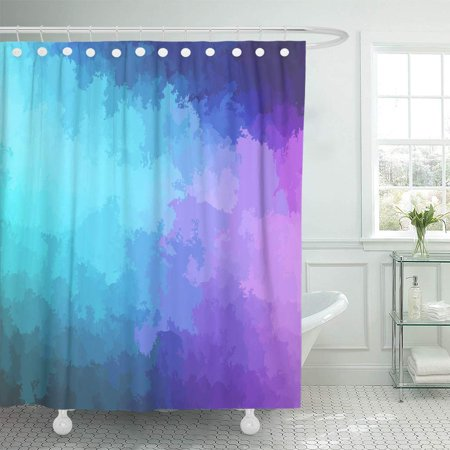 KSADK Bright Abstract Modern Digitally Generated Contemporary Vibrant Blue and Purple Computer Light Shower Curtain Bathroom Curtain 66x72 inch