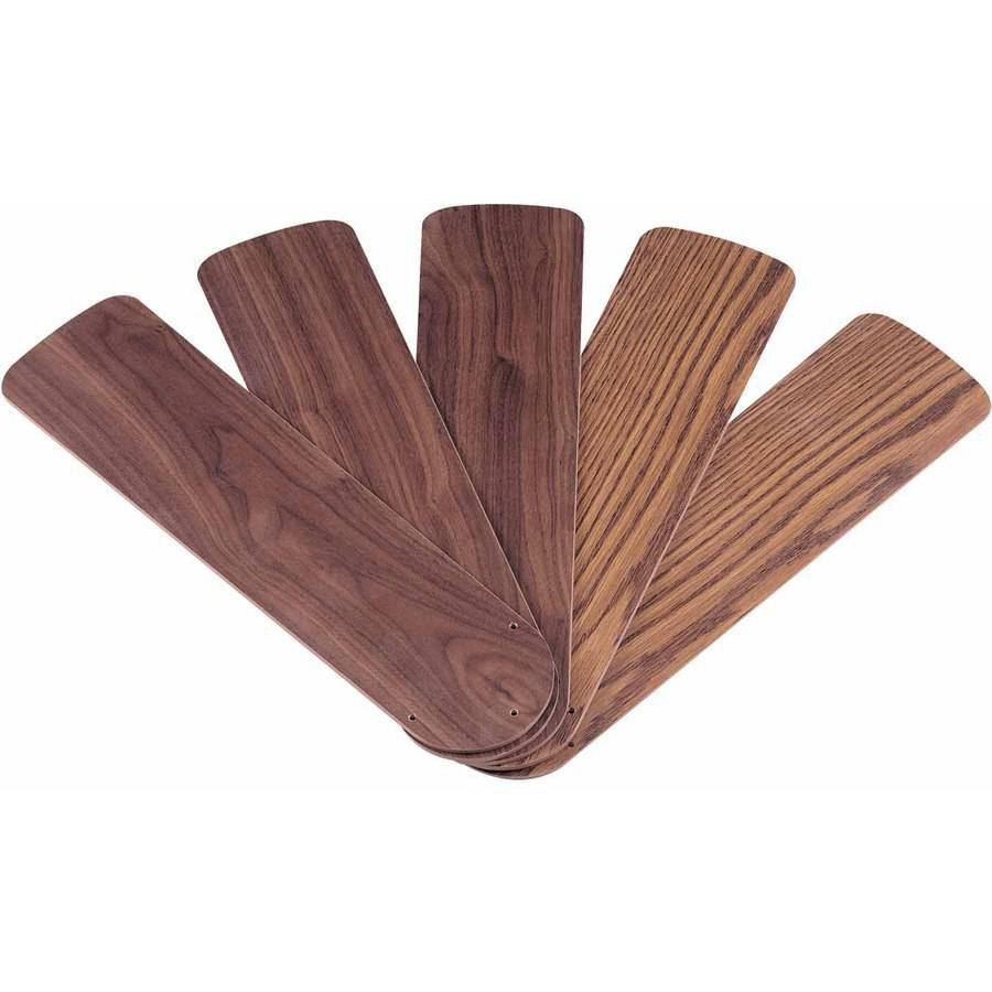 "Westinghouse 7741000 42"" Oak and Walnut Reversible Fan Blades, 5-Count"
