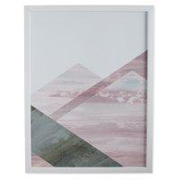 MoDRN Glam Pink Geo Shapes Left Wall Art