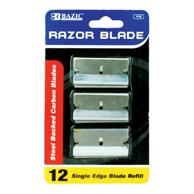 Bazic Products 115-360 BAZIC Razor Replacement Blade - 12-Pack Case of 360