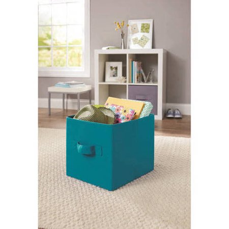 Upc 840358100355 Better Homes And Gardens Collapsible Fabric Storage Cube Teal Sachet Set
