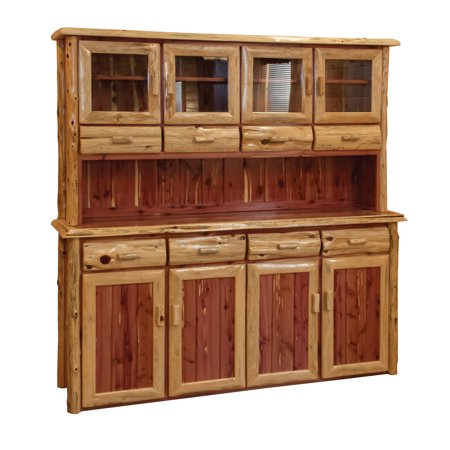 Furniture Barn USA™ Rustic Red Cedar Log 4 Door Hutch and - M Buffet Coupon