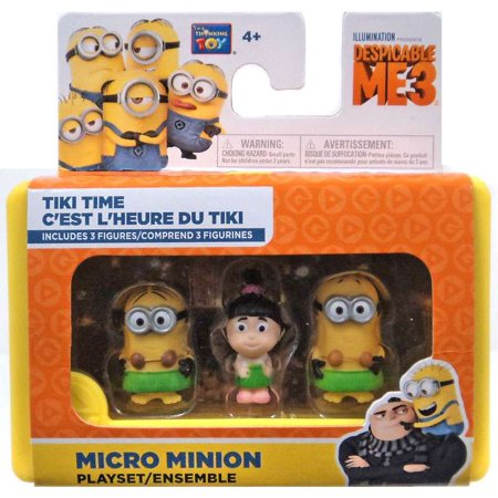 Despicable Me Minions Movie Tiki Time Micro Playset - Tim Minion