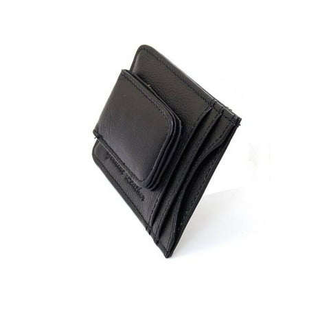 Mens Leather Money Clip Slim Front Pocket Wallet Magnetic ID Credit Card Holder Black One