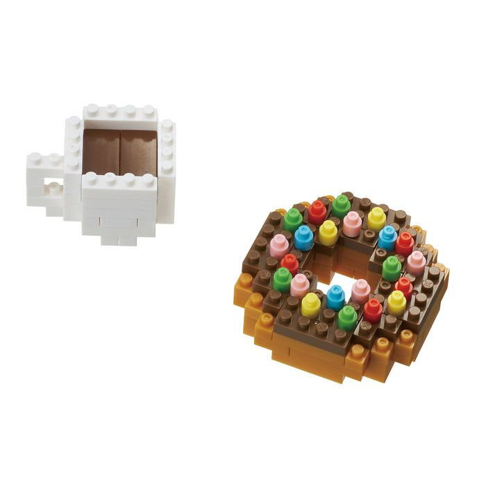 Donut & Coffee Mini Building Sets by Nanoblock (NBC246) by nanoblock
