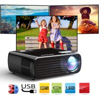 Excelvan 2600 Lumens Home Projector Portable Mini LED HD Projector Support 1080P 3D with HDMI for phone,BL-23