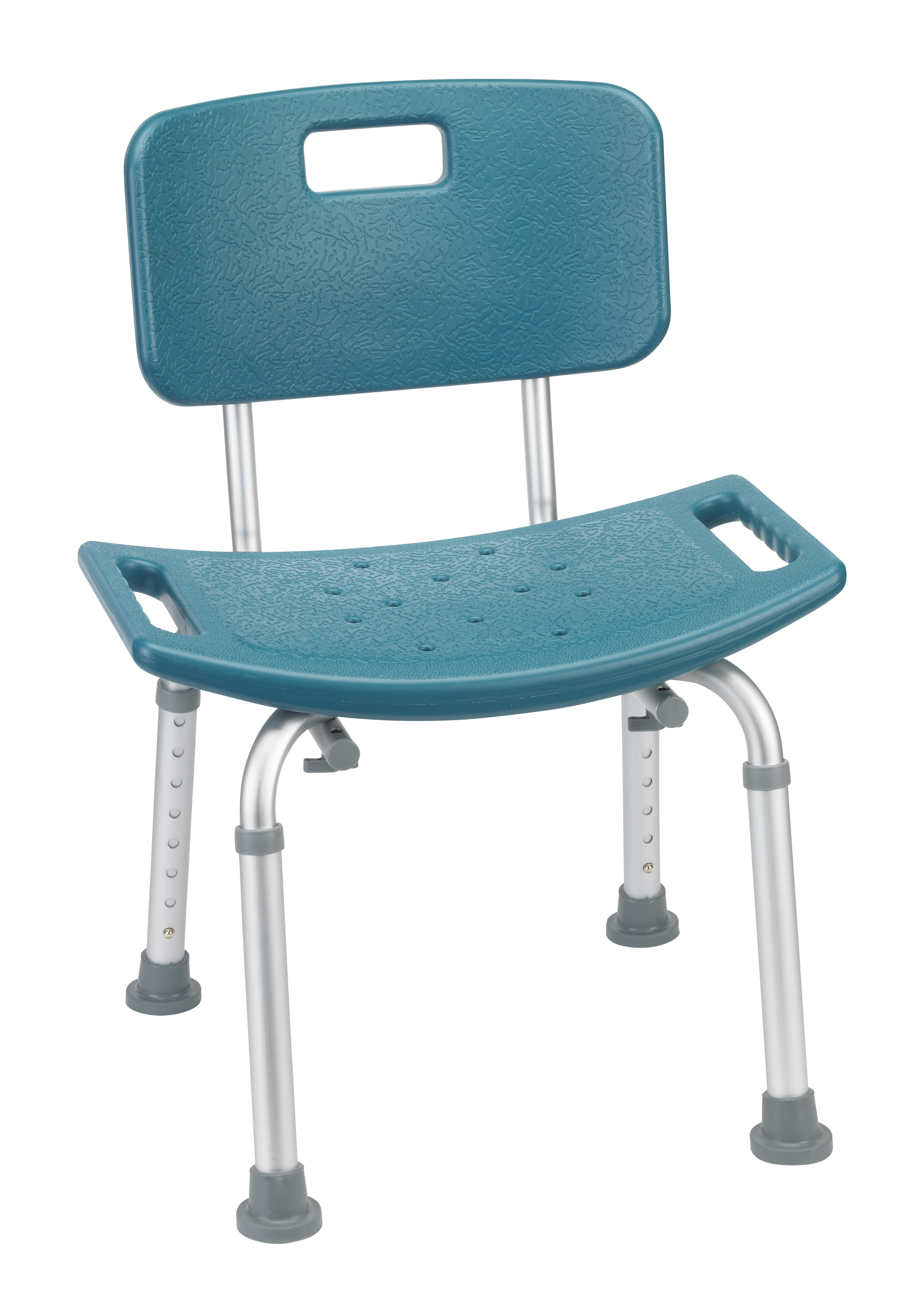 drive medical bathroom safety shower tub bench chair with back teal