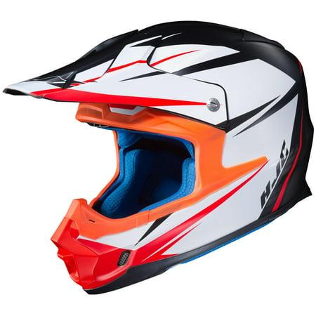 Hjc Apparel (HJC FG-MX Axis Helmet Semi-Flat Black (MC-5SF) (White, XX-Large) )