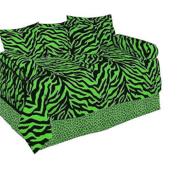 Karin Maki Lime Green Zebra Print Daybed Set