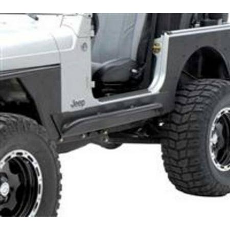 - Smittybilt 1987-1995 Jeep Wrangler YJ XRC Rock Sliders With Step Black Textured 76861