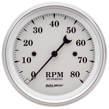 Autometer 1690 Old Tyme White Electric Tachometer