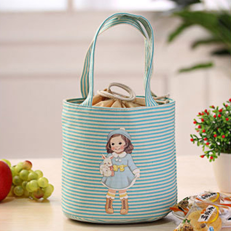 Thermal Insulated Box Tote Cooler Bag Bento Pouch Lunch Bag Storage Case
