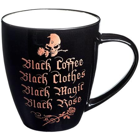 Alchemy of England Black Coffee, Black Clothes Bone China Mug Black