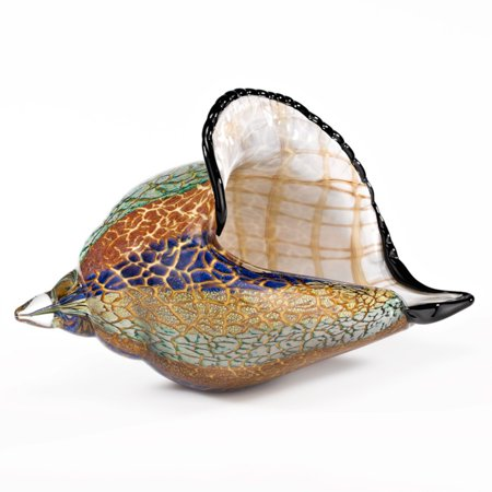 Badash Murano Style Artistic Glass Conch Shell Sculpture