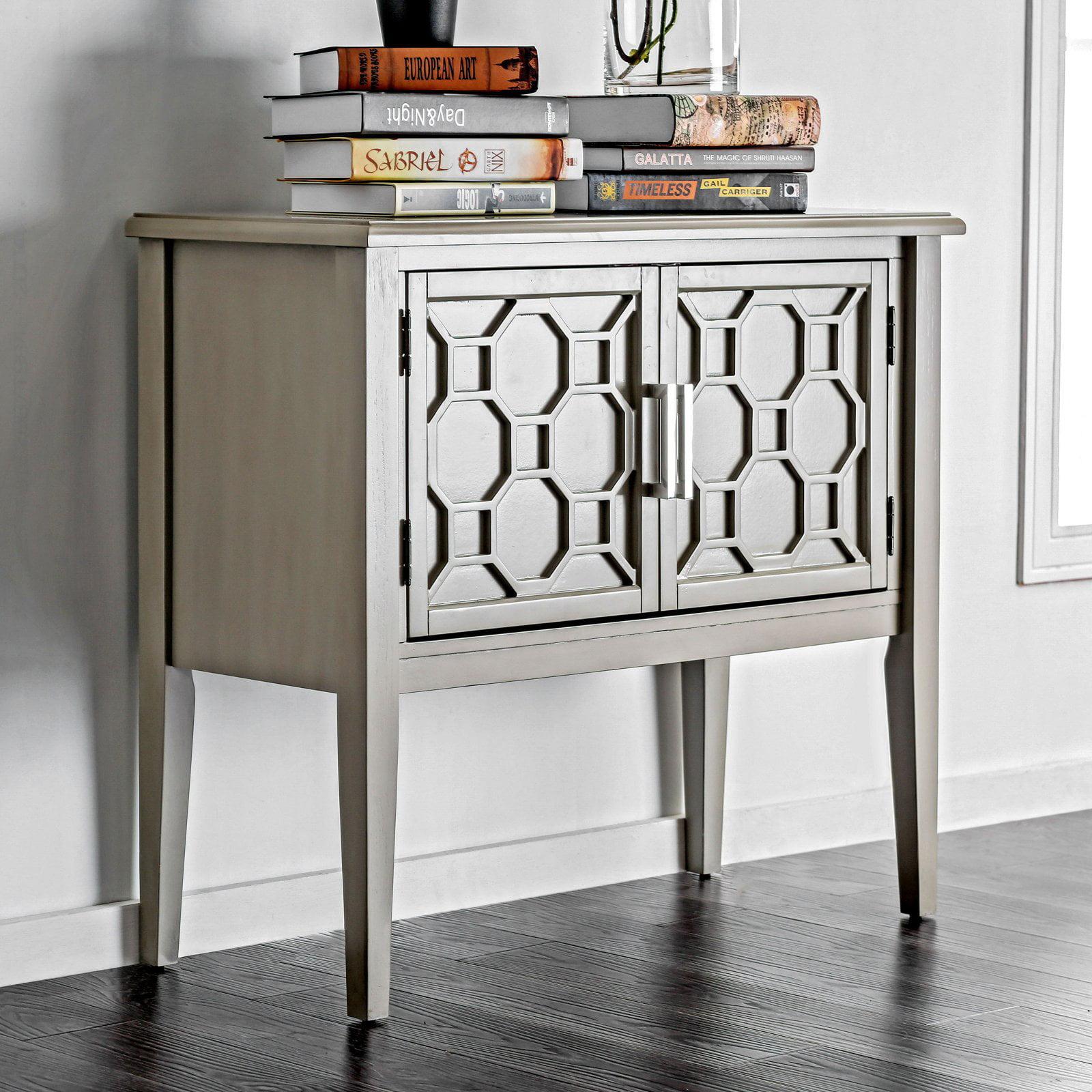 Furniture of America Thalia Contemporary Style Double Door Hallway Cabinet