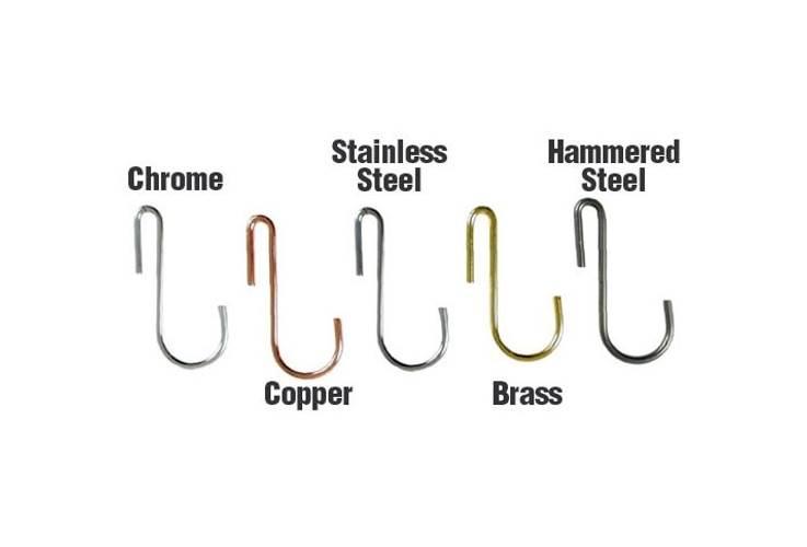 6 Pc Basket Hook Set for Hanging Pot Racks (Hammered Steel) by Enclume