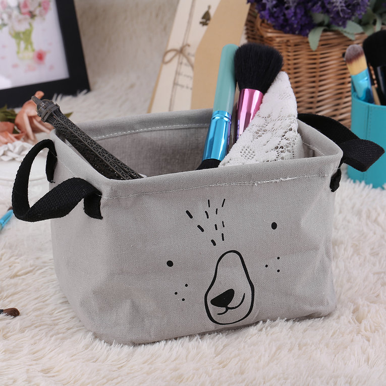 Dirty Barrel Folding Toy Storage Boxes Creative Laundry Box Clothes Basket,Gray