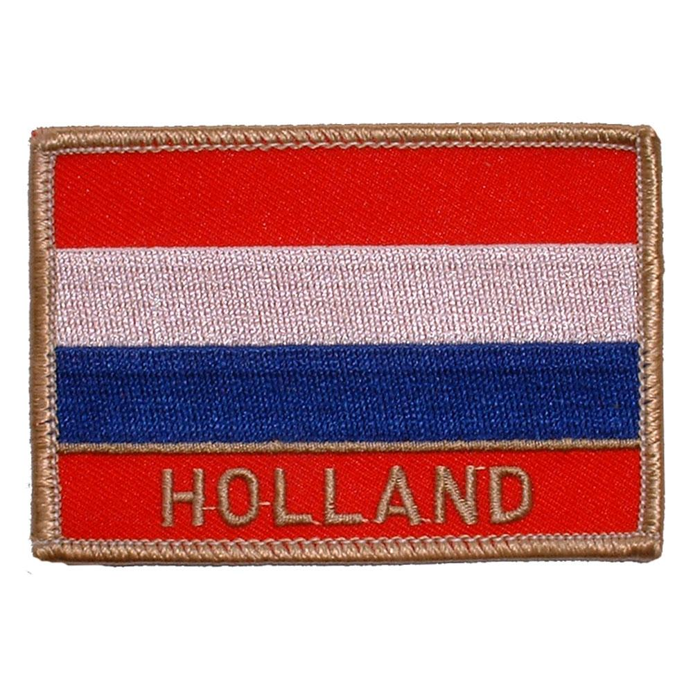"""Holland Flag Patch 2 1 2"""" x 3 1 2"""""""