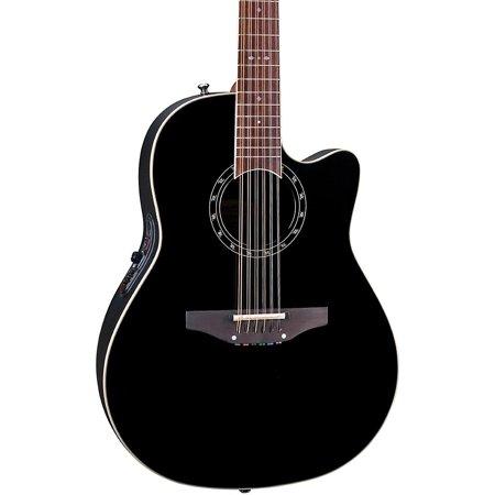 Ovation Standard Balladeer 2751 AX 12-String Acoustic-Electric Guitar Black