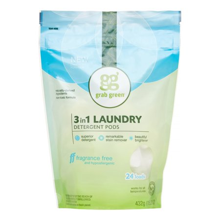 Grab Green Natural 3 In 1 Laundry Detergent Pre Measured