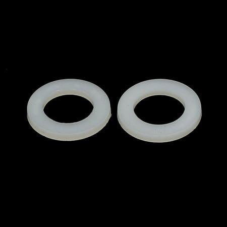 M12 x 20mm x 2mm rondelles plats nylon entretoises fixation Joints d'étanchéité Blanc 100PCS - image 1 de 2