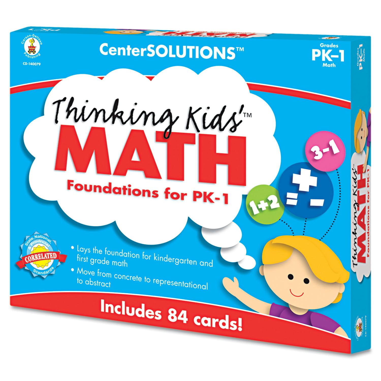 Carson-Dellosa Publishing CenterSOLUTIONS Thinking Kids Math Cards, Pre-K and Grade 1 Level