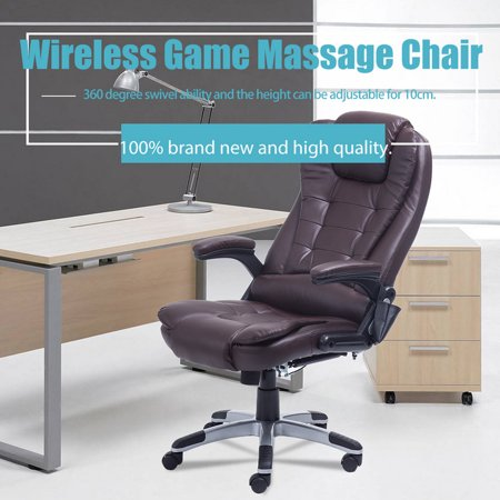 Enjoyable Heated Office Massage Chair High Back Pu Leather Computer Machost Co Dining Chair Design Ideas Machostcouk