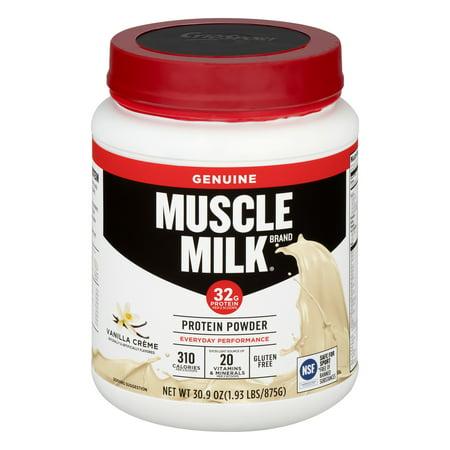 Muscle Milk Vanilla Creme Lean Muscle Protein Powder  30 9 Oz