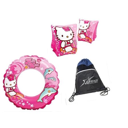 Slimming 20 Bags (Intex Hello Kitty swimming set with Deluxe Arm Bands and 20