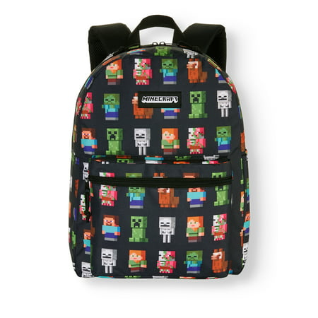 "Minecraft Characters 16"" Backpack"