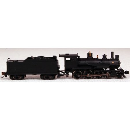 Bachmann Industries Baldwin 4-6-0 Steam Locomotive - Painted, Unlettered - Black N Scale - DCC on B