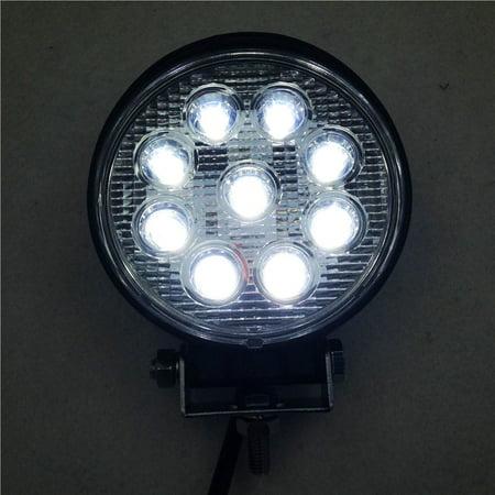 HTT-MOTOR Round 27W Spot BEAM LED Off Road Work 9 LED Light 12V 24V Universal USE SUV Car Truck Boat