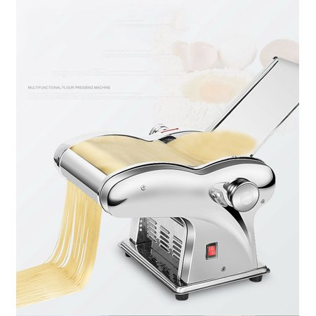 110V Home Commercial Stainless Steel Electric Dumpling Dough Skin Noodles Pasta Maker Machine with Two Blade (Skin Maker For M)
