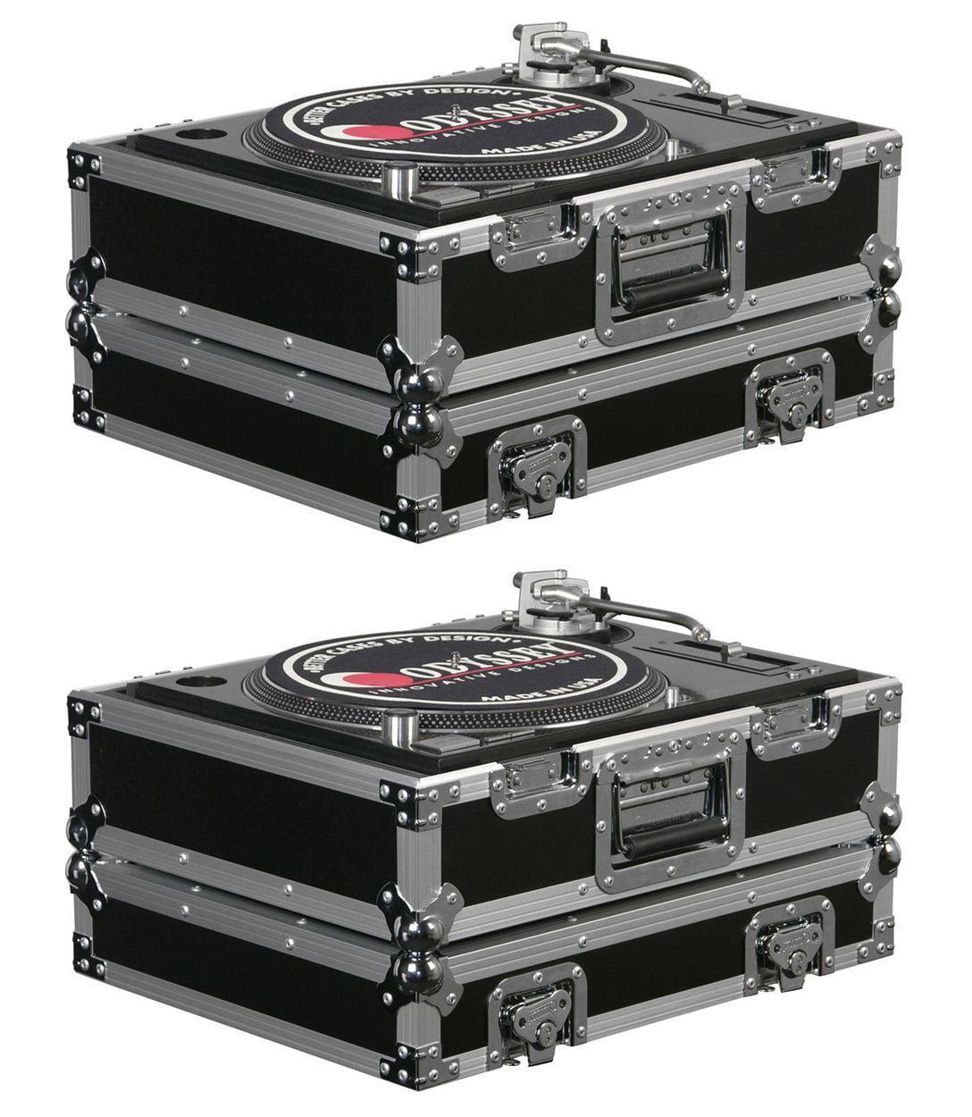 (2) Odyssey FR1200E ATA Universal Pro DJ Turntable Flight Road Cases by Odyssey