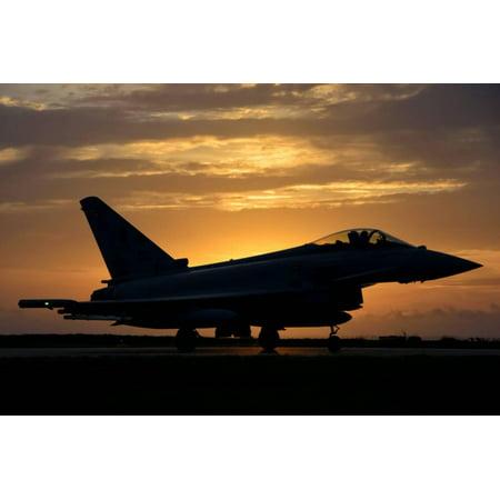 An Italian Air Force F-2000 Typhoon at Sunset Print Wall Art By Stocktrek  Images