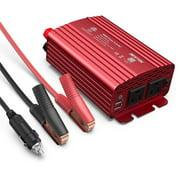 BESTEK 500W Power Inverter DC 12V to 110V AC Converter with 4.8A Dual