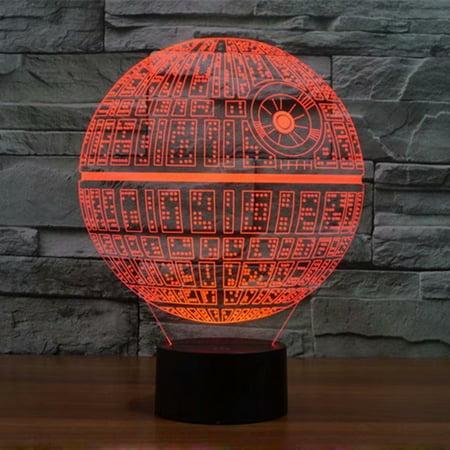 VicTsing Creative Star Wars LED 3D Night Light Soft, Ambient Lighting for Desk Lamp Home Lighting Bulbing Graded