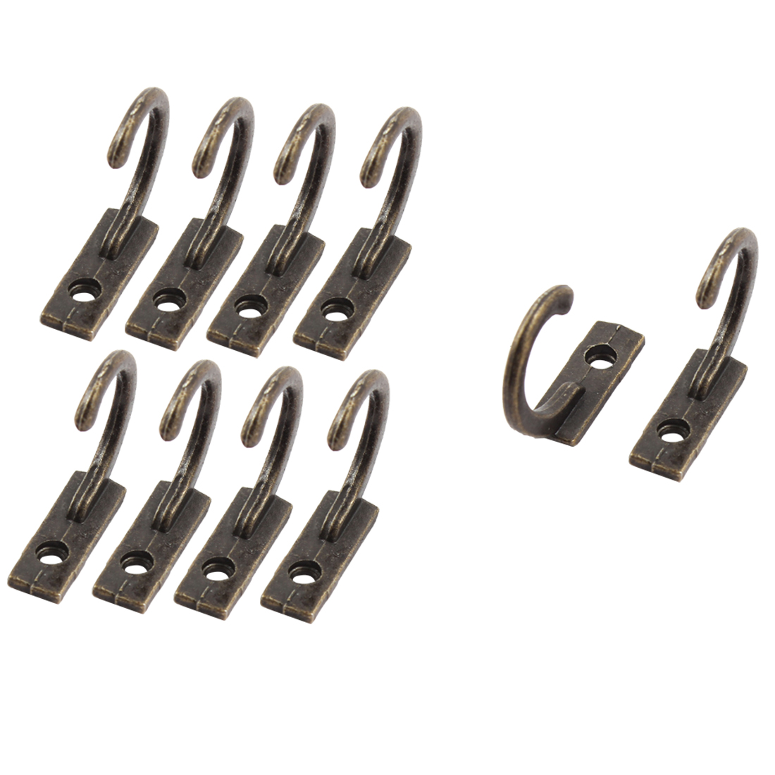 Uxcell Vintage Style Wall Mounted Towel Scarf Bag Cap robe Hook Hangers Bronze Tone 10 PCS