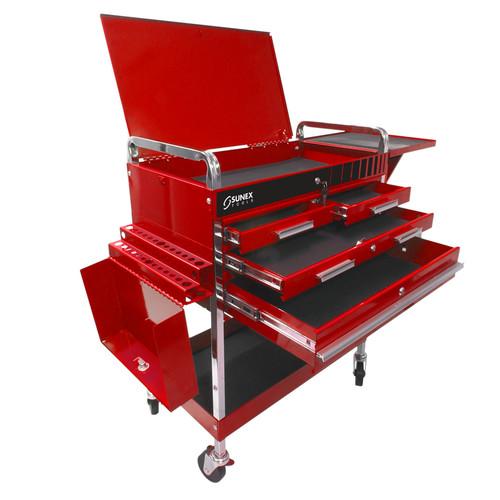Sunex Tools 8013Adlx Deluxe Service Cart - Red