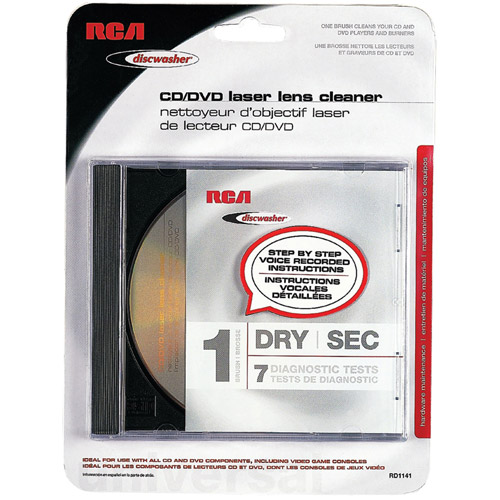Discwasher RD1141 CD/DVD Laser Lens Cleaners with 1 Brush