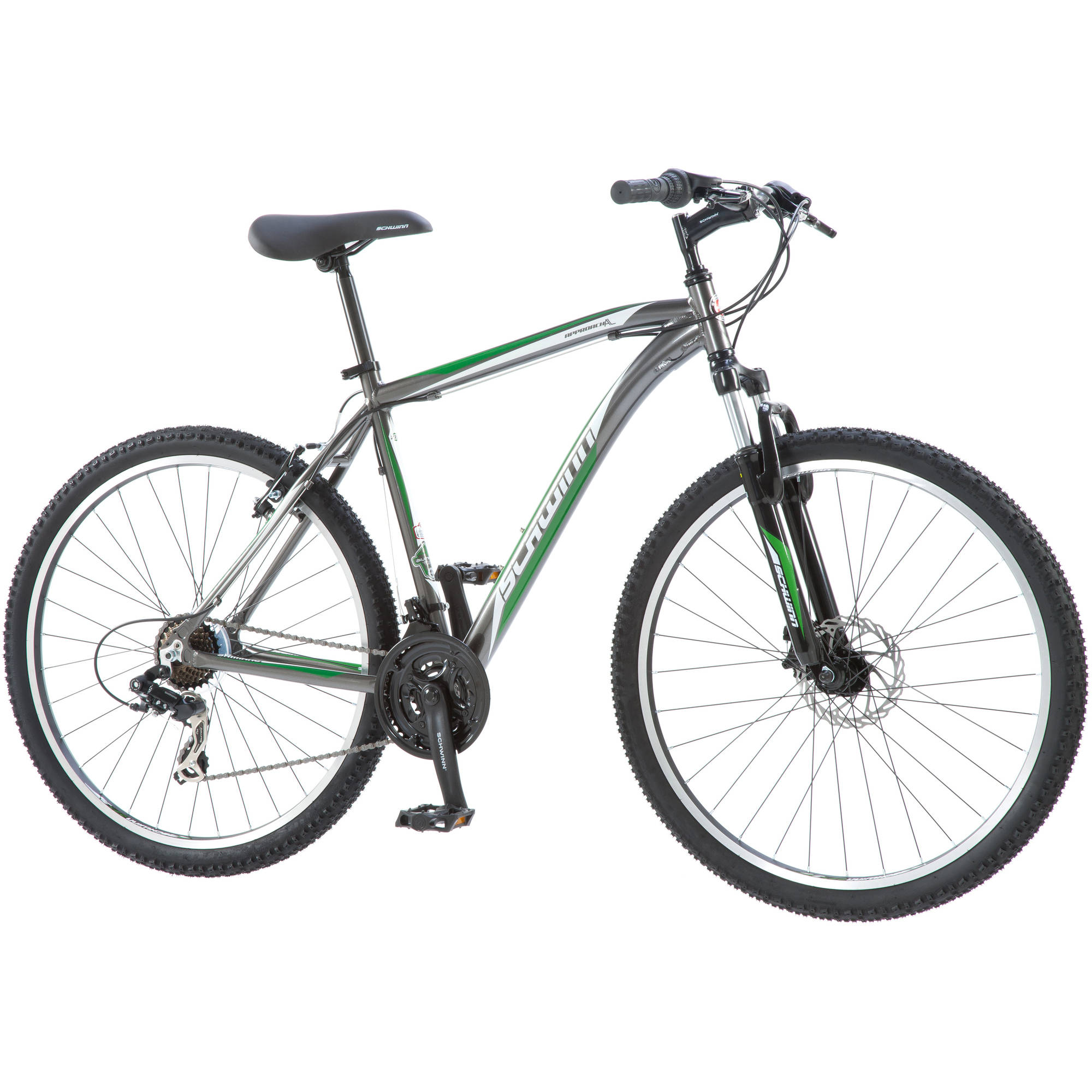 "27.5"" Schwinn Men's Approach Mountain Bike, Grey/Green"